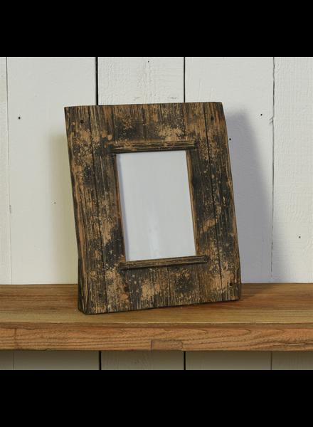 HomArt Shiplap Frame, 5x7 Horizontal - Natural Wood & Black