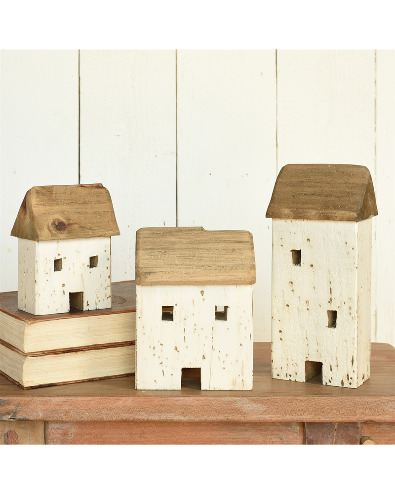 HomArt Kelso Wood Cottages, Set of 3 - Natural Wood