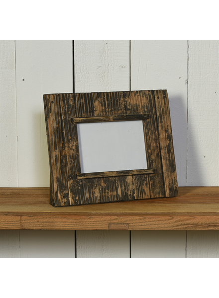HomArt Shiplap Frame, 5x7 Vertical - Natural Wood & Black