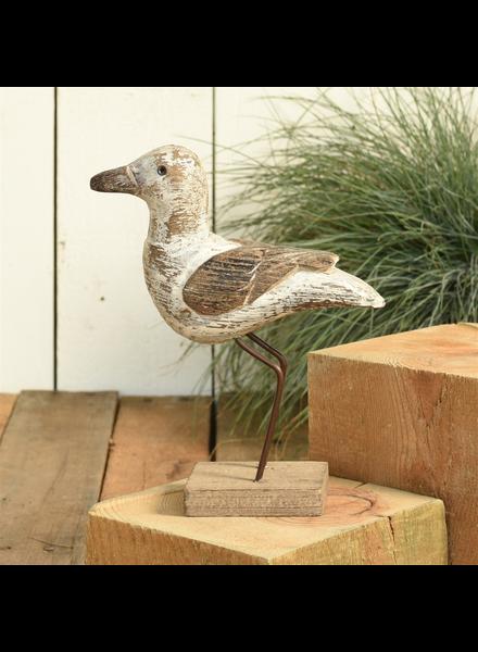 HomArt Kelso Wood Seagull - Lrg - White & Natural Wood