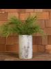 HomArt Faux Birch Vase, Cement - White