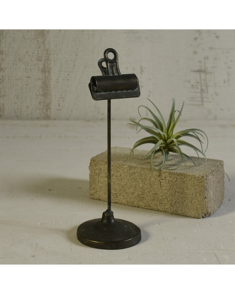 HomArt Bookkeepers Clip on Stand, Metal - Sm - Black