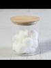 HomArt Finn Canister - Glass with Wood Lid - Med