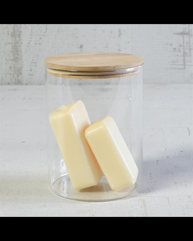 HomArt Finn Canister - Glass with Wood Lid - Lrg