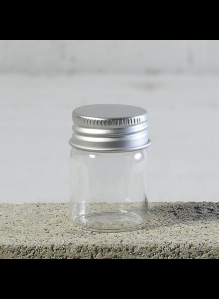 HomArt Simple Jar, Glass with Metal Cap - Sm - Set of 12