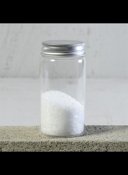 HomArt Simple Jar, Glass with Metal Cap - Lrg - Set of 4