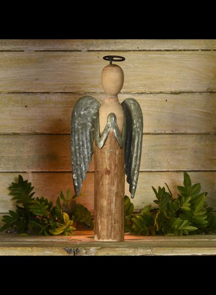 HomArt Angel at Prayer, Wood & Metal - Sm