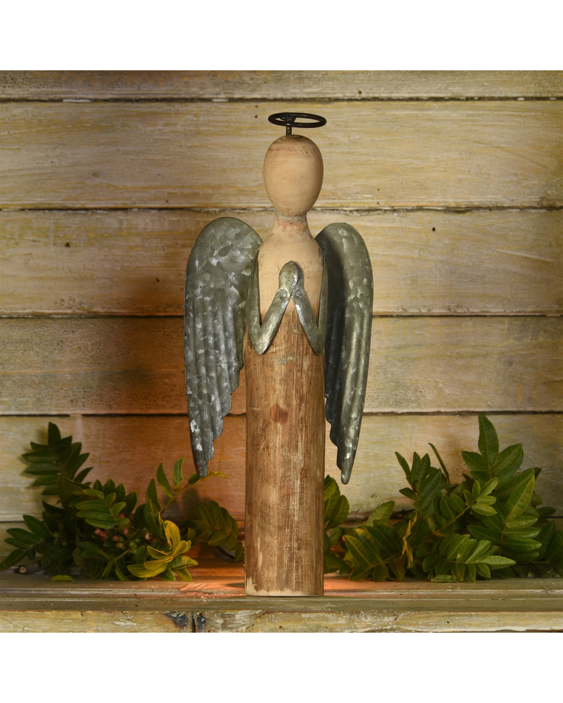 HomArt Angel at Prayer, Wood & Metal - Sm
