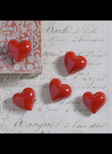 HomArt Red Glass Heart - Set of 12