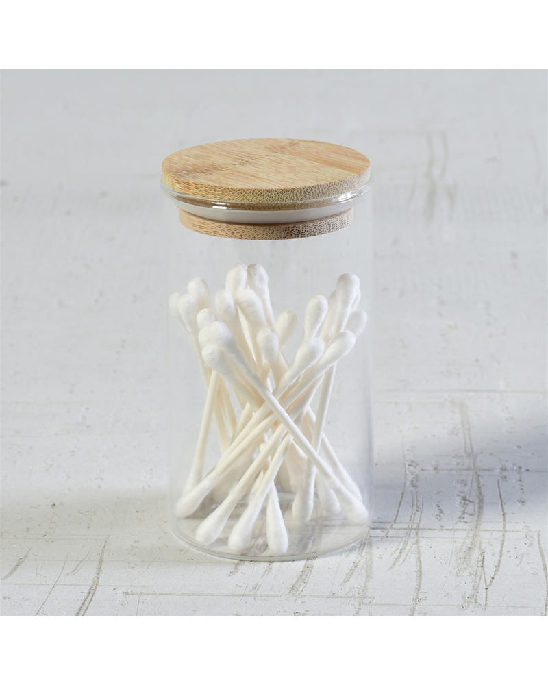 HomArt Finn Canister - Glass with Wood Lid - Sm - Set of 2