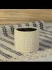 HomArt Moto Cachepot, Ceramic - Sm - Matte White