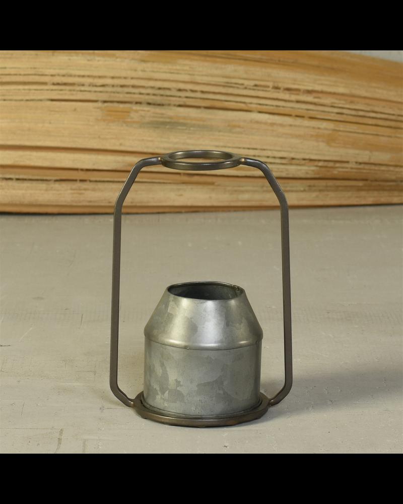 HomArt Napa Vase, Metal & Zinc - Round - Zinc