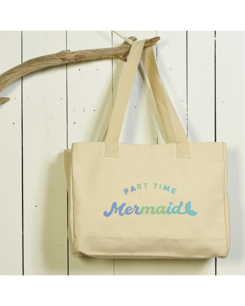 HomArt Beach Tote, Canvas - Part Time Mermaid