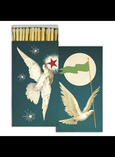 HomArt White Peace Doves HomArt Matches - Set of 3
