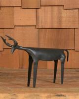 HomArt Rustic Reindeer, Iron - Med - Black