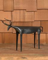 HomArt Rustic Reindeer, Iron - Lrg - Black