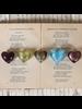 HomArt Venetian Glass Heart Olive Gold Set of 6