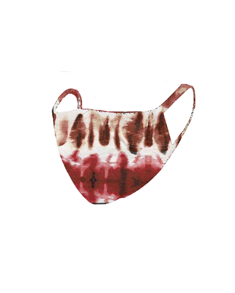 The Skate Group Rust/Ivory Tie Dye Face Mask