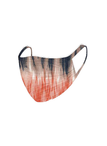 The Skate Group Navy/Orange Tie Dye Face Mask