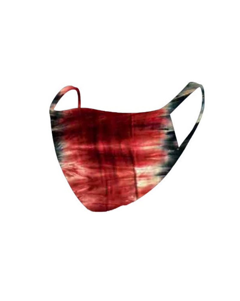 The Skate Group Red Tie Dye Face Mask