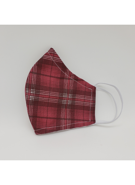 Marta's Face Mask's Red Plaid womens Face Mask