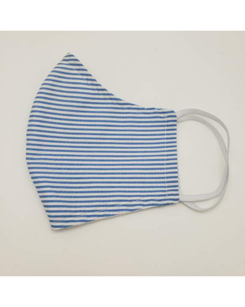 Marta's Face Mask's Blue Striped Womens Face Mask