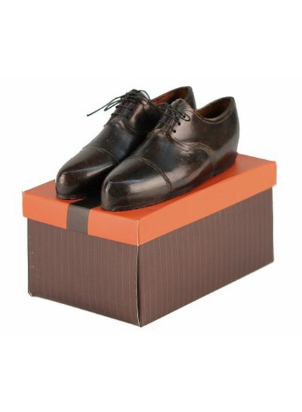 Pair of Oxford Wingtip Shoes Paperweight - Dark Brown