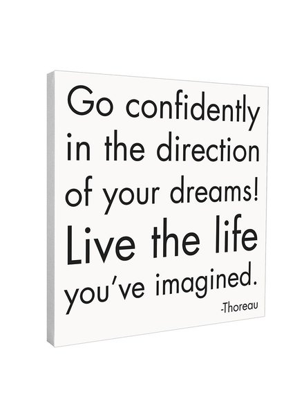 Quotable Cards Quotable Canvas 12x12-Go Confidently