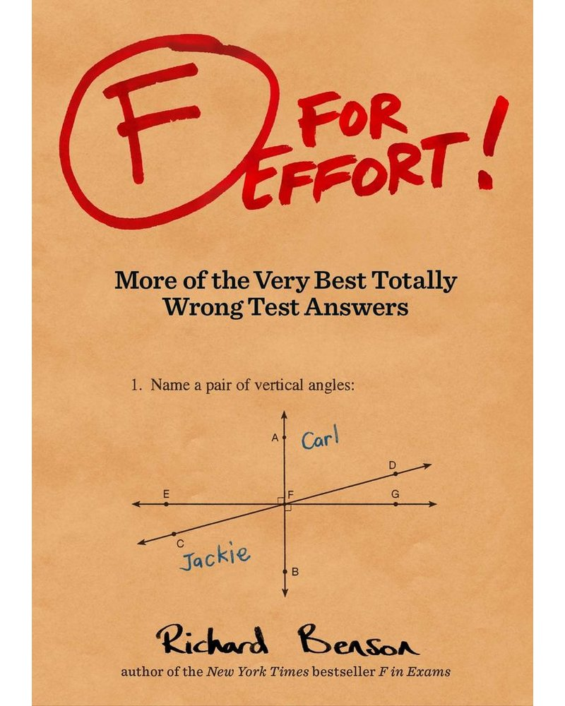 F For Effort -  Totally Wrong Test Answers