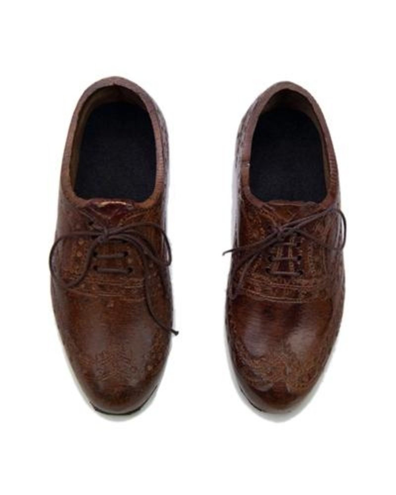 e557b78846b1 Pair of Oxford Wingtip Shoes Paperweight - Light Brown - AREOhome
