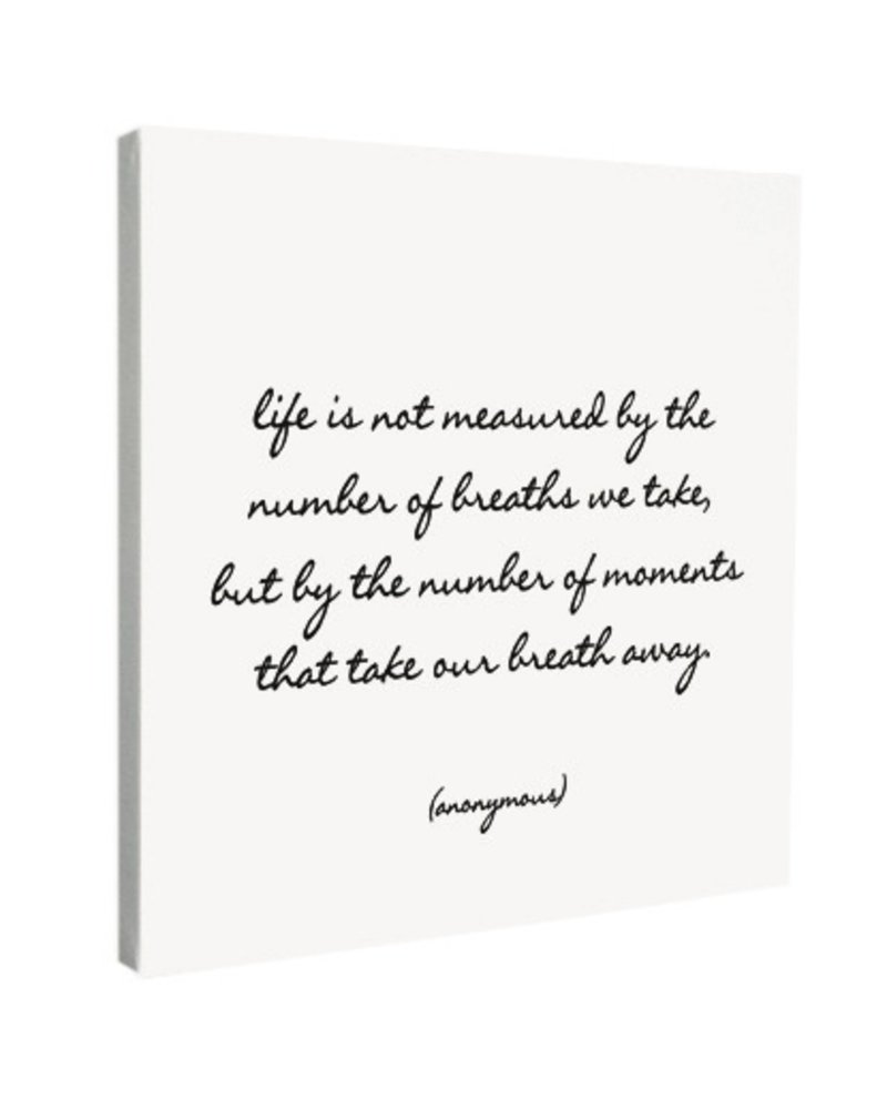 Quotable Cards Quotable Canvas 12x12-Life Is Not Measured...