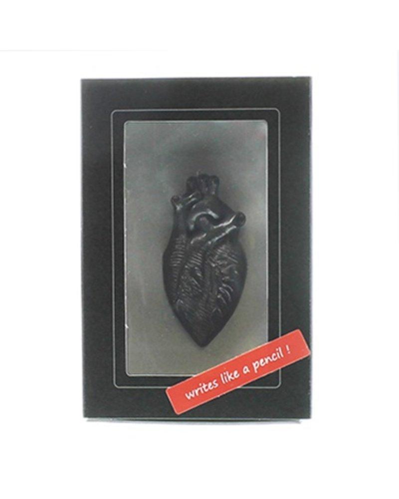 Sculptural Graphite Pen-Heart Curio