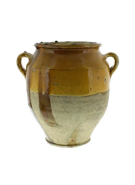 Yellow Confit Olive Jar Pot -Lrg