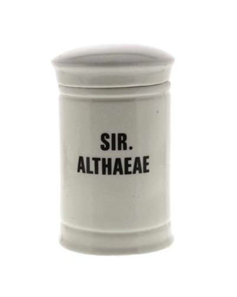 Sir. Althaeae Med Ceramic Apothecary Jar