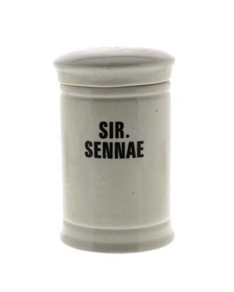 Sir. Sennae Med Ceramic Apothecary Jar