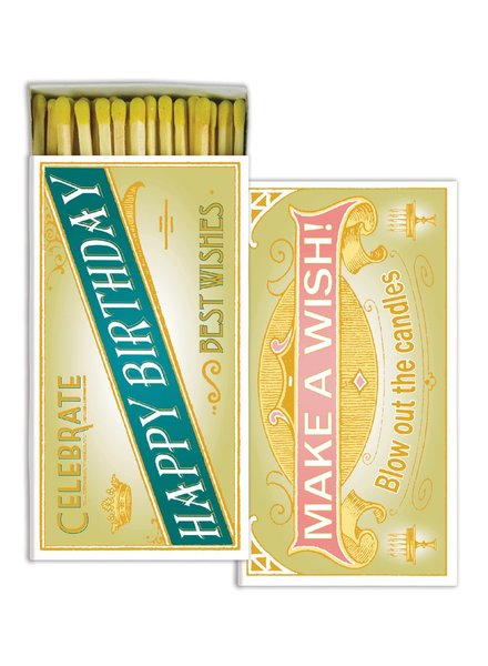 HomArt Happy Birthday HomArt Matches - Set of 3 Boxes
