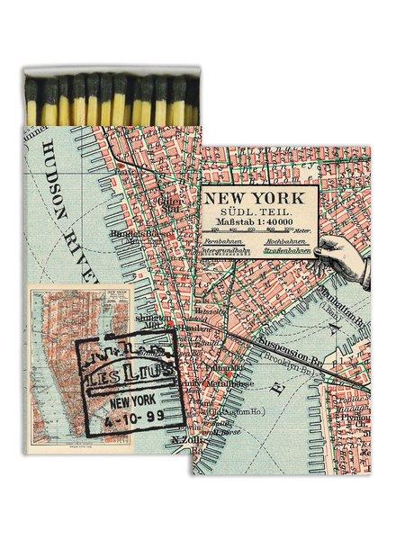 HomArt New York Map HomArt Matches - Set of 3 Boxes