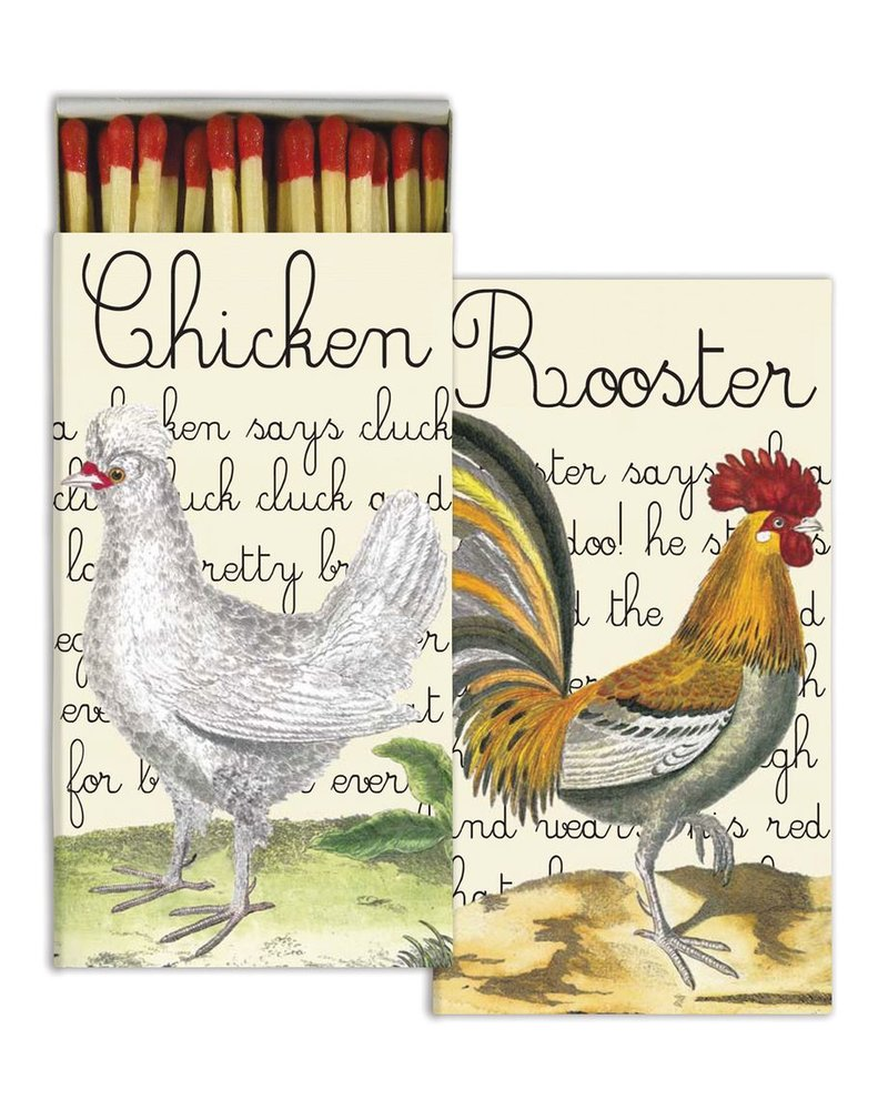 HomArt Matches - Chicken and Rooster Farm Set of 3 Boxes