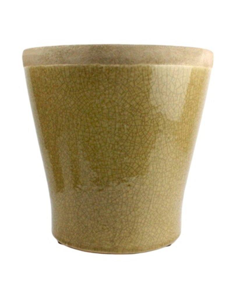 HomArt Mulberry Ceramic Cachepot - Lrg Yellow