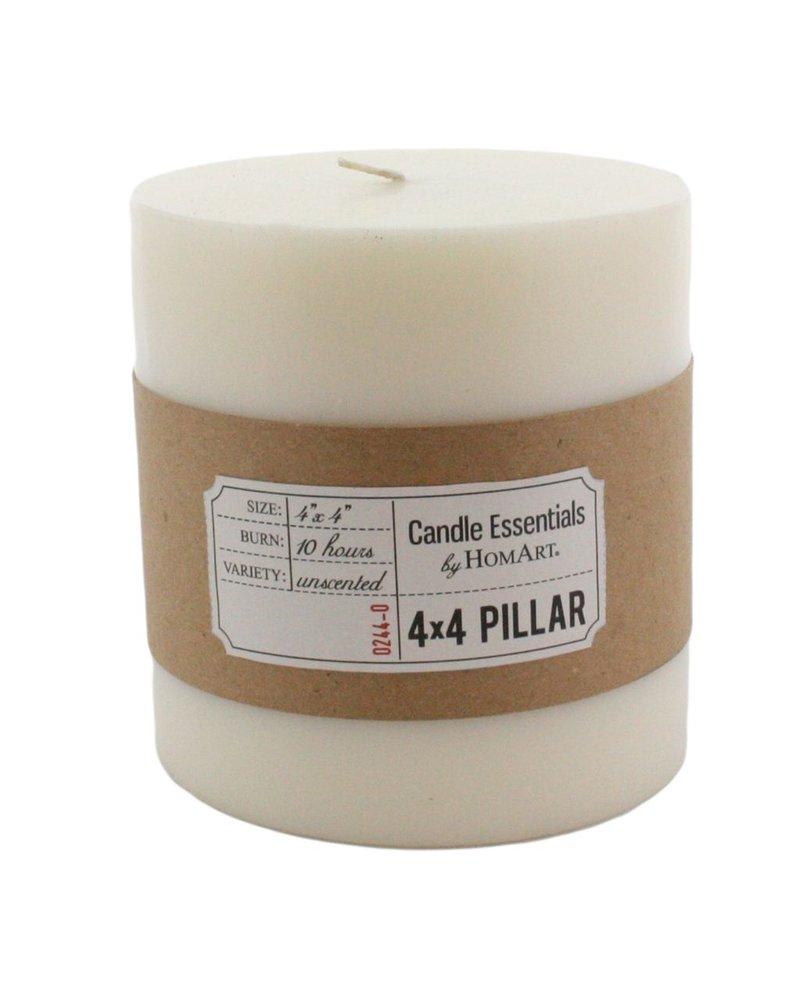 HomArt 4 x 4 Ivory Pillar Candle