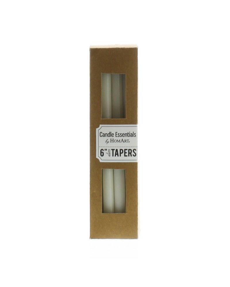 HomArt Slim Taper - 6 Inch - Box of 12