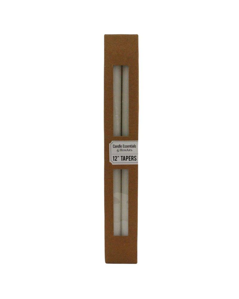 HomArt Taper 12 in - Box of 4 Ivory