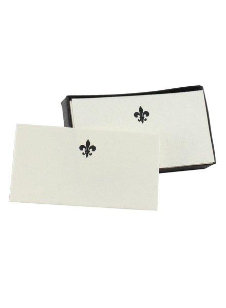 HomArt Printed Paper Card - Box of 32 Fleur de Lys