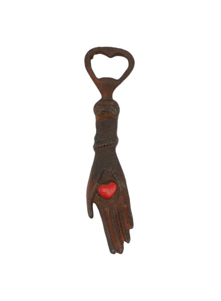 HomArt Hand With Heart HomArt Cast Iron Bottle Opener