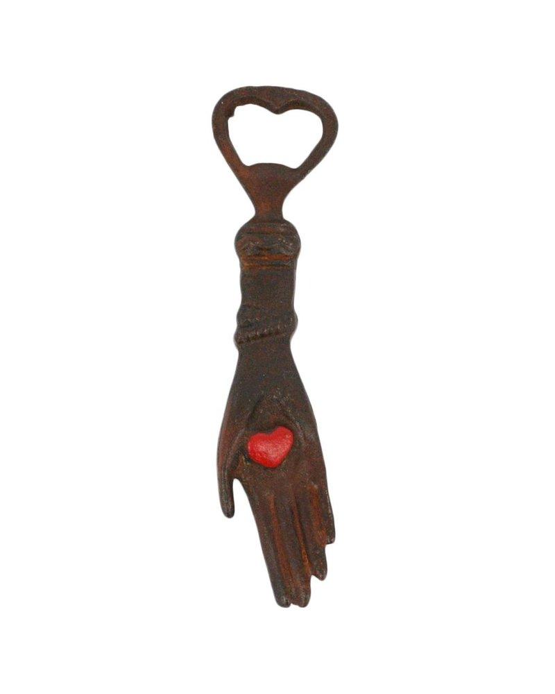 HomArt Hand With Heart HomArt Cast Iron Bottle Opener