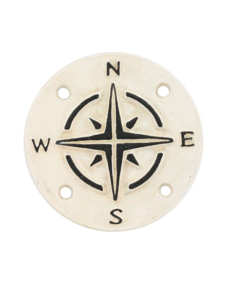 HomArt Compass Cast Iron Sign - Set of 2