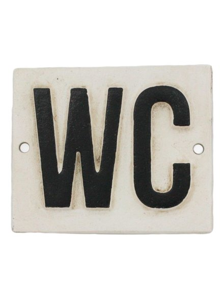HomArt Cast Iron Sign - WC