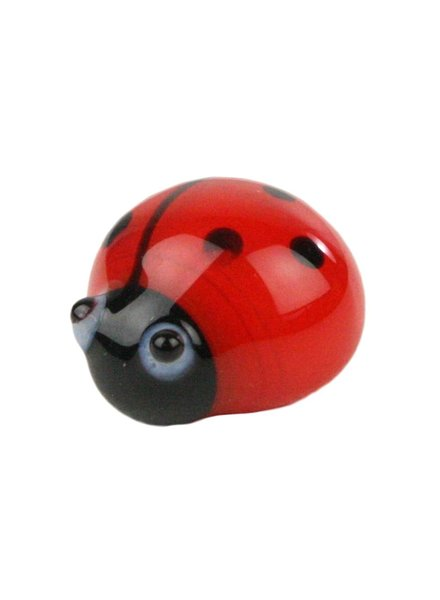 HomArt Glass Ladybug Red-Black - Set of 25