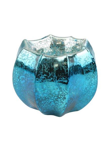 HomArt Mercury Glass Tealight Holder Antique Teal