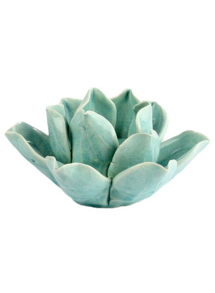 HomArt Lotus Tea Light Holder Teal